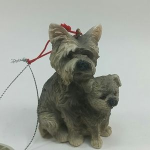 Schnauzer and Pup Christmas Ornament